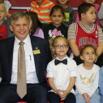 UNCP chancellor visits schools during Read Across America Week