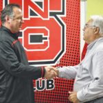 Wolfpack coaches make local appearance