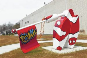 Resident: Laurburg art garden sculpture should go